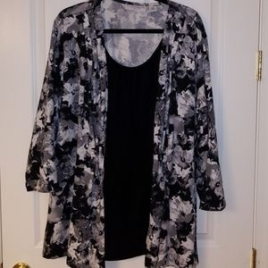 Flowered Top with Jacket